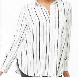 Forever 21 Plus Woven Button Blouse